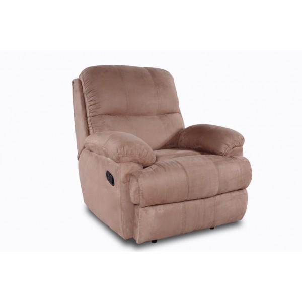 Fauteuil relax microfibre coloris taupe - Nettoyer fauteuil microfibre ...