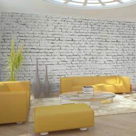 Papier peint XXL - Mur blanc - esprit briques à l'état pur