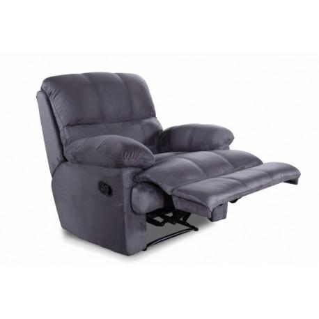 fauteuil relax gris microfibre - Fauteuille Relax