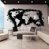 Papier peint XXL  White continents, black oceans...