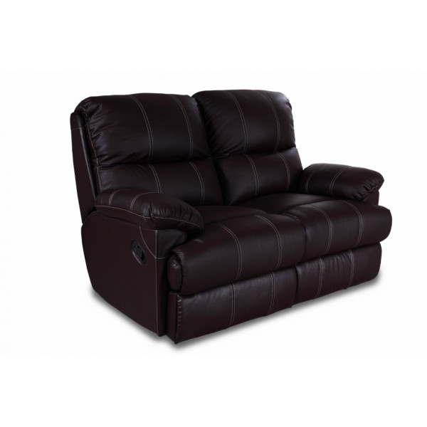 Canap 2 places relax cuir pu chocolat - Canape relax 2 places ikea ...