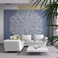 Papier peint  Ornement blanc