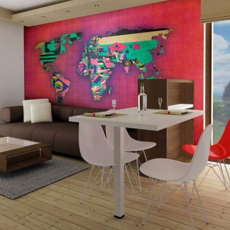 Papier peint  Avantgarde World map