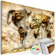 Tableau en liège  Anatomy of the World [Cork Map]
