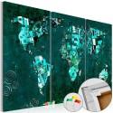 Tableau en liège - Emerald World [Cork Map]