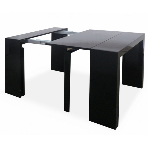 600 x - Table console extensible noir ...