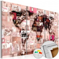 Tableau en liège  Banksy Graffiti Collage [Cork Map]