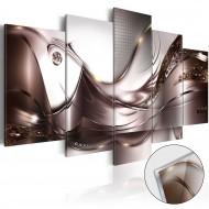 Tableau sur verre acrylique  Golden Storm [Glass]