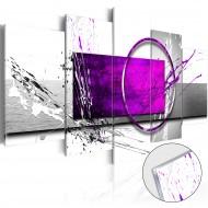 Tableau sur verre acrylique  Purple Expression [Glass]