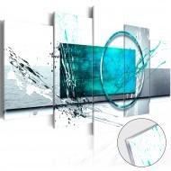 Tableau sur verre acrylique  Turquoise Expression [Glass]