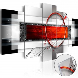Tableau sur verre acrylique - Carmine Missile [Glass]