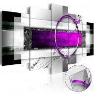 Tableau sur verre acrylique  Violet Rim [Glass]