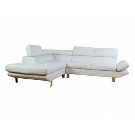 Canapé d'Angle Gauche Blanc Tétières réglables