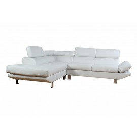 Canapé d'Angle Blanc Tétières réglables