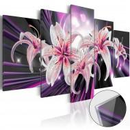 Tableau sur verre acrylique  Violet Inspiration [Glass]
