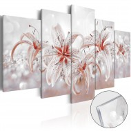 Tableau sur verre acrylique  Flowery Saga [Glass]