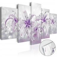 Tableau sur verre acrylique  Purple Graces [Glass]