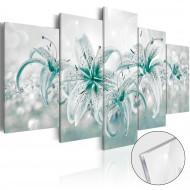 Tableau sur verre acrylique  Sapphire Lilies [Glass]