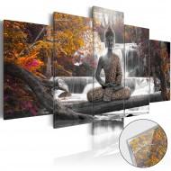 Tableau sur verre acrylique  Autumnal Buddha [Glass]