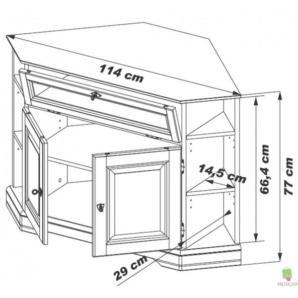 Meuble tv d 39 angle louis philippe merisier beaux meubles pas chers - Meuble d angle merisier ...