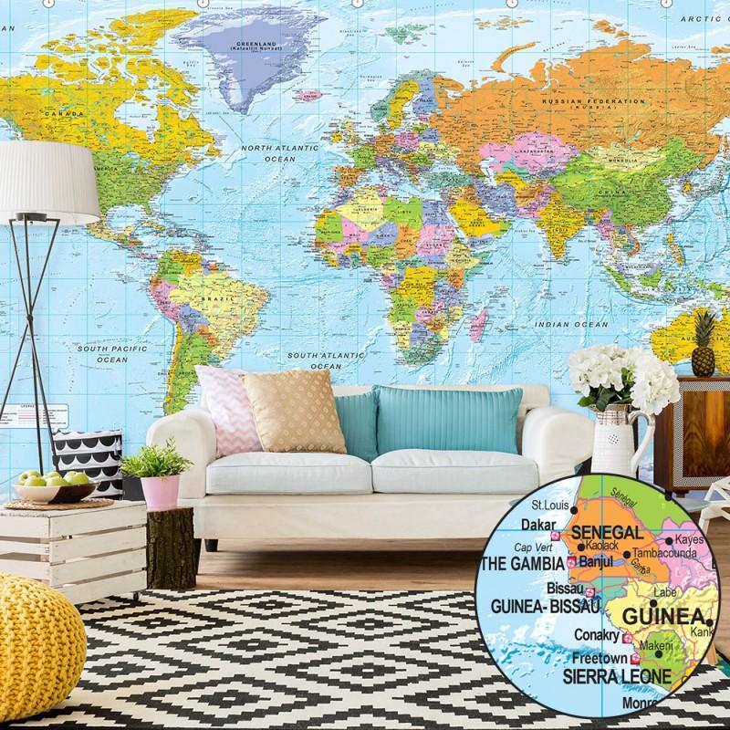 papier peint xxl orbis terrarum ii beaux meubles pas chers. Black Bedroom Furniture Sets. Home Design Ideas