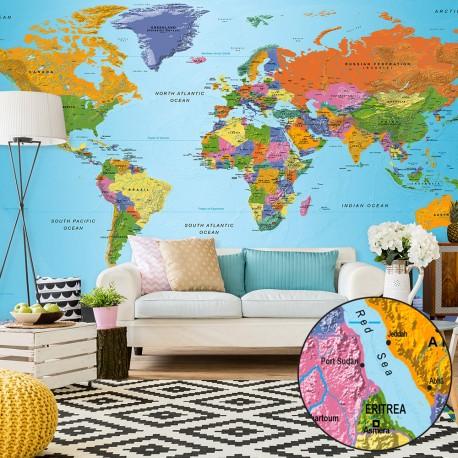 Papier peint XXL  World Map Colourful Geography II