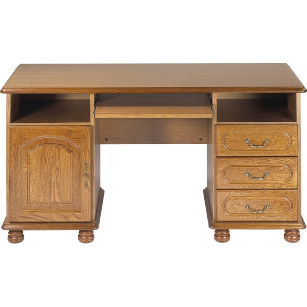bureau rustique bureau rustique avec coeur 2 tiroirs. Black Bedroom Furniture Sets. Home Design Ideas