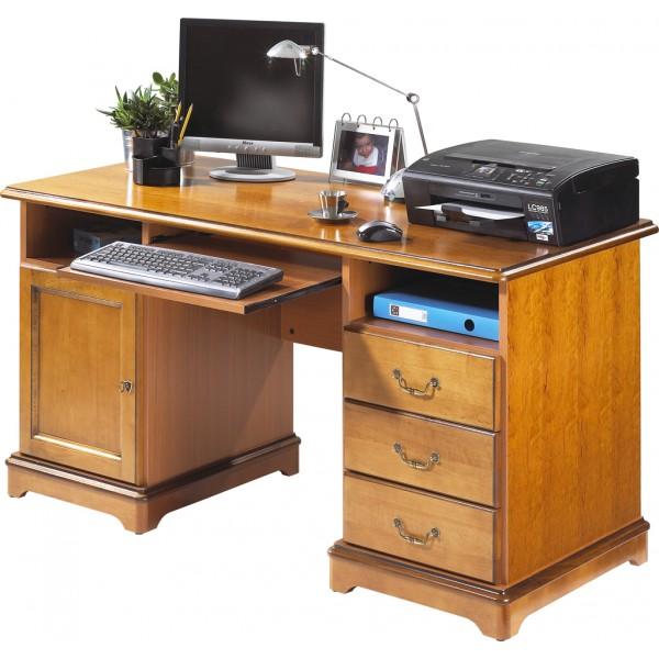 bureau ministre informatique louis philippe merisier. Black Bedroom Furniture Sets. Home Design Ideas