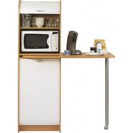 Table de cuisine meuble de rangement beaux meubles pas for Cuisine equipee avec table integree
