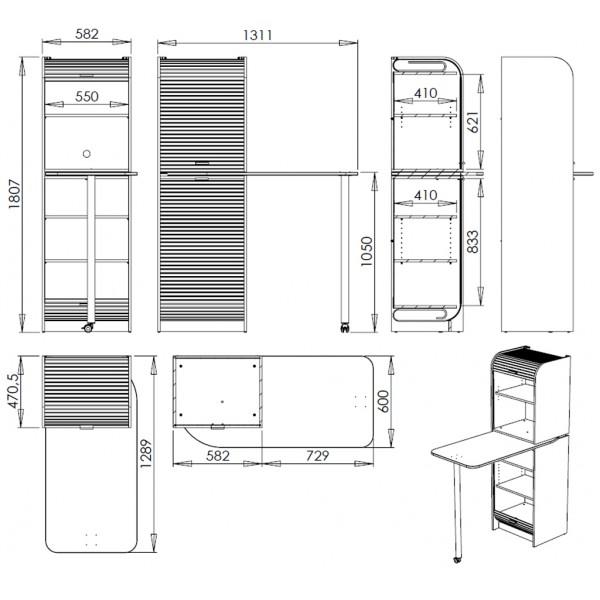 Plan meuble cuisine plan meuble cuisine camping car for Meubles cuisine integree