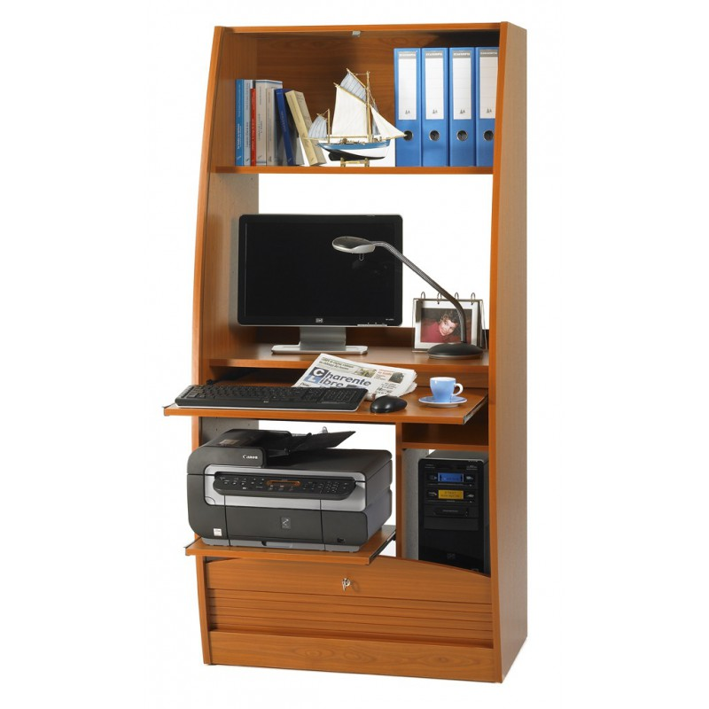 armoire informatique galb e largeur 80 cm beaux meubles pas chers. Black Bedroom Furniture Sets. Home Design Ideas