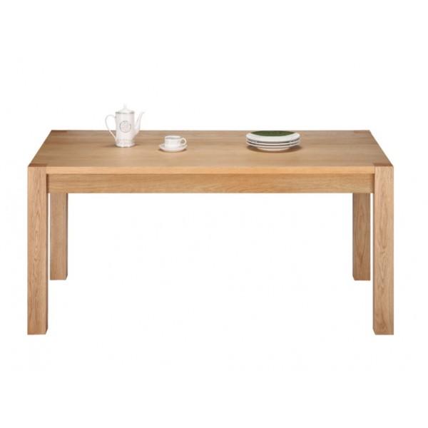table rectangle ch ne clair 160 cm beaux meubles pas chers. Black Bedroom Furniture Sets. Home Design Ideas