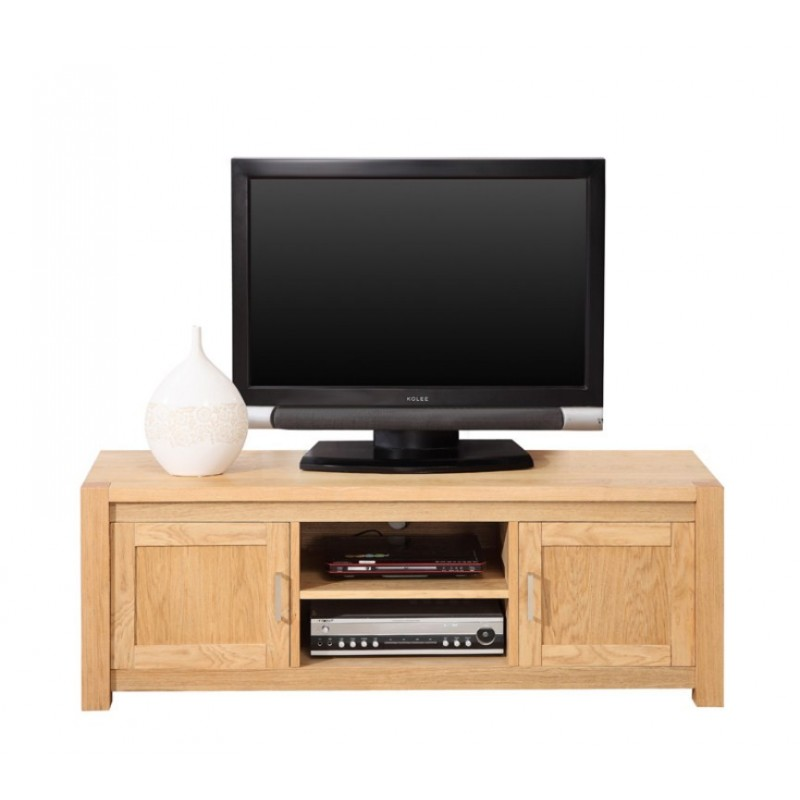Meuble banc tv hifi ch ne clair for Banc tv chene
