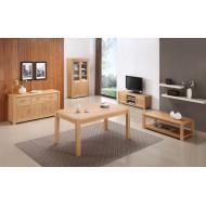 Ensemble de 5 meubles chêne clair de salle à manger et salon
