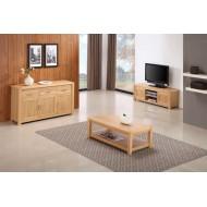 Meubles de séjour chêne clair, ensemble de 3 meubles
