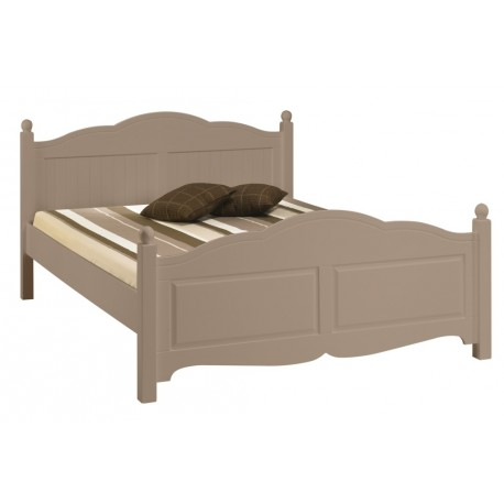 Lit Taupe 2 places 140 x 190 Charme