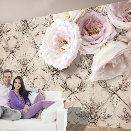 Papier peint  Romantic beige