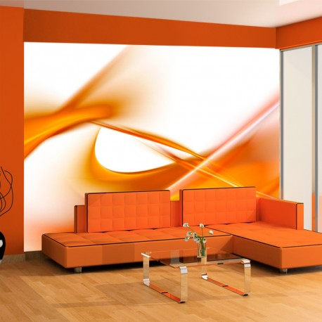 Papier peint  abstraction  orange
