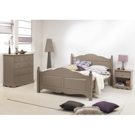 chambre taupe lit 140 commode chevet beaux meubles pas chers. Black Bedroom Furniture Sets. Home Design Ideas