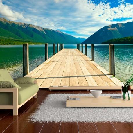 Papier peint  Entre lac et montagnes