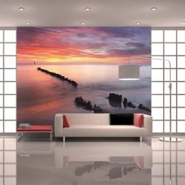 Papier peint - Lever du soleil sur la Mer Baltique