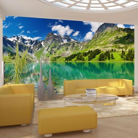 Papier peint  Lac de montagne