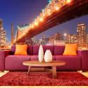 Papier peint - Fiery Brooklyn Bridge