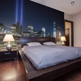 Papier peint - Floodlights over NYC