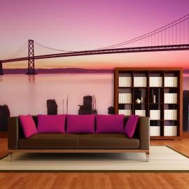 Papier peint - Baie de San Francisco en violet, Californie