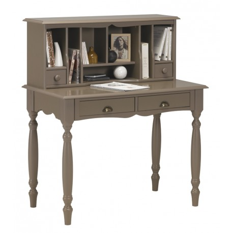 meuble secr taire bonheur du jour taupe beaux meubles. Black Bedroom Furniture Sets. Home Design Ideas