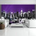 Papier peint - Ciel violet à New York
