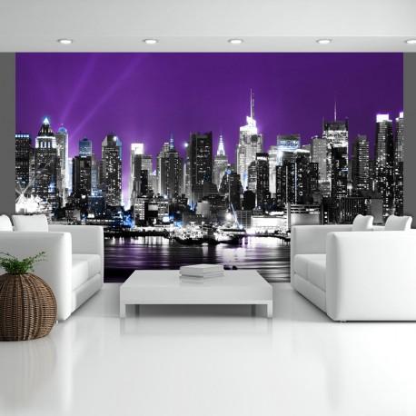 Papier peint  Ciel violet à New York