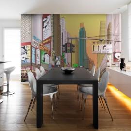 Papier peint - L'heure de pointe à New York