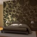 Papier peint - Cercles en bronze